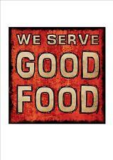 Good Food sign Cafe Bistro pub Sign Vintage Food Sign Wall Plaque Fine Wine Sign