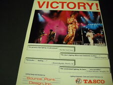 MICHAEL JACKSON The Jacksons 1984 VICTORY! Promo Poster Ad mint conition