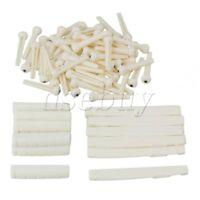 10 x Cream Color Plastic 6 String Acoustic Folk Guitar Bridge Saddles Nuts Pins