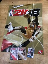 NBA 2K18 Legend Edition Gold Exclusive Shaquille SHAQ Stickers Poster Cards