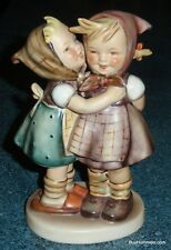 """1950s LARGE """"Telling Her Secret"""" Goebel Hummel Figurine #196 TMK2 FULL BEE RARE!"""