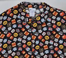 Disney Parks Route 66 Mens 2XL Hawaiian Camp Shirt Pixar Cars NEW with Tag Rayon