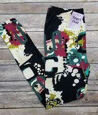 Paint Splatter Graffiti Leggings Buttery Soft ONE SIZE OS