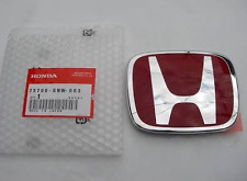 Honda Civic Si FRONT REAR EMBLEM JDM FD2 H Red Genuine OEM 06 14 Badge Type R