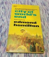 1974 CITY AT WORLD'S END Edmond Hamilton Fawcett Science Fiction Paperback