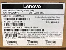 BRAND NEW! Lenovo ThinkPad Ultra Dock with Charger 135 Watt 40AJ0135US NIB!