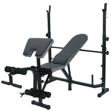 Adjustable Olympic Workout Weight Lifting Bench w/Rack Incline Decline Flat Gym