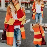 Plus Size Women Patchwork Long Sleeve Fashion Cardigan Tops Sweater Coat 2019 US