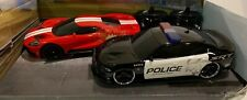 JADA TOYS RC Ford GT Dodge Charger SRT Vehicle Kids Radio Control Police Car 2PK
