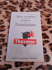 Notice d'installation et d'utilisation des cuisinières électriques Thermor