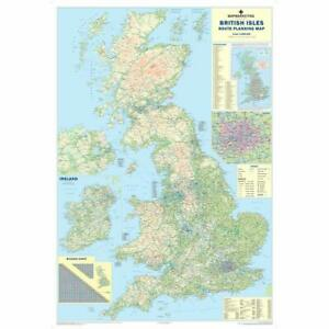 UK Roads Wall Map - Laminated Large Wall Map - 120cm X 83cm