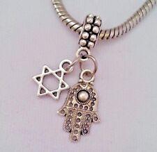 Jewish Star Of David Symbol Hand Charm Pendant f European Bracelet/Necklace