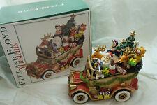 Fitz Floyd Christmas Music Box Santa Mobile Toys Tree Reindeer Car New Box