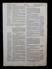 1597 GENEVA  BIBLE LEAF PAGE * BOOK OF PSALMS 4:2-9:20 * PATIENCE IN AFFLICTION*