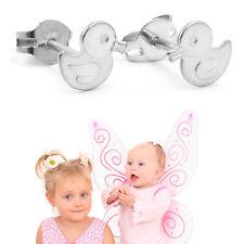 Mädchen Enten Ohrstecker Kinder Ente Ohrringe 1 Paar Entchen aus Echt Silber 925