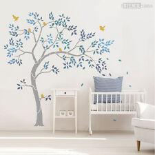 Nursery albero stencil Pack-INC. foglie, gli uccellini & BAGAGLIAIO Estensione. Stencil Studio