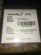 1 Box Vwr Microscope Micro Slides Cat No 48300 025 12 Gross