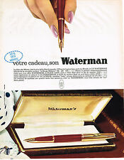 PUBLICITE ADVERTISING 084  1963  WATERMAN  stylo plume FAIR LADY