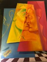 Vintage Painting Signed and dated, ( The Kiss ).