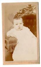 CDV of little baby sitting and leaning on arm rest G.Grellings's photo Det. Mi