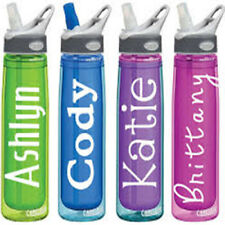 X2 Personalised, Drinks Bottle Stickers / Decals, Glasses, Bottle, Jars
