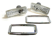 CRYSTAL SIDE REPEATERS WITH CHROME SURROUNDS FOR MERCEDES W124 W140 W126 190