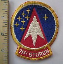 71st STURON STUDENT SQUADRON - ORIGINAL Vintage USAF U.S. AIR FORCE PATCH