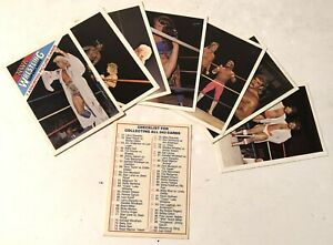 1988 Wonderama NWA Wrestling SuperCards 7 Assorted Picture Cards - Complete