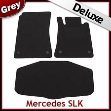 Tailored LUXURY 1300g Car + Boot Mats for Mercedes SLK R171 2004-2011 GREY