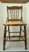 Antique-Vintage-Wooden-Chair-with embroidered seat