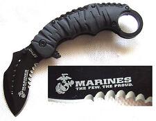 Karambit US Marines the few The Proud navaja semper fidelis Pocket Knife