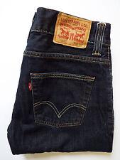 LEVI'S 506 JEANS MENS STANDARD STRAIGHT LEG W32 L32 STRAUSS DARK BLUE # LEVG939