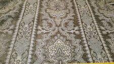 62 x 54 & Bonus piece Decorator Fabric 1yd+ Green Damask Stripe Soft Chenille