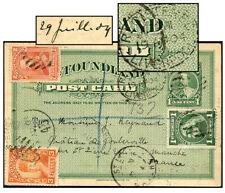 Newfoundland 1¢ Psc + 5¢ Reg'D Jul 1904 To France P8