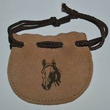 Vintage Leather Western Horse Head Equestrian Motif Coin Purse Pouch Rare