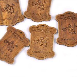 5pcs Wooden Vintage Spool Thread Spools Textile Industrial Bobbin Lot Bobbins