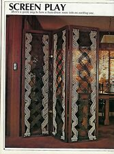 BOOK ONLY Room Divider Screen Pattern in Macrame Makes a Window Curtains #7391