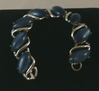 Silver Tone Bracelet with Stunning Blue Plastic Stones