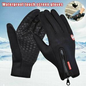 Winter Fahrradhandschuhe Herren Damen Outdoor Winddicht Touchscreen Handschuhe