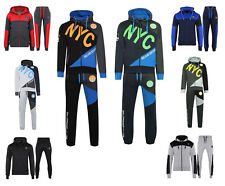 Adults Fleece NYC Tracksuit Sports Jogging Bottom Hoodie Sizes S, M, L, XL