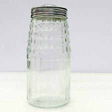 Vintage Retro Glass Flour Shaker Sifter American Diner Style