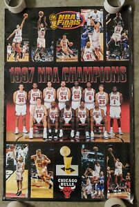 Michael Jordan Vintage Chicago Bulls 1997 Poster NBA Finals World Champions