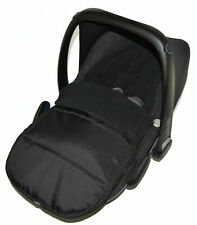 Car Seat  Footmuff / Cosy Toes Compatible With Maxi Cosi Cabrio Black Jack