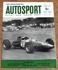 Autosport 8/1/65* FORMULA 2 REVIEW - SOUTH AFRICAN GP - EMERY SINGER CHAMOIS