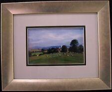 Renowned Australian Artist  Ken Farrow original oil titled 'Suffolk Pastoral'.