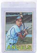 Jim Fregosi 1967 Topps #385 Autographed Baseball Card California Angels DECEASED