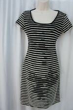 Studio M Dress Sz XS Black Ecru Combo Business Casual Semi Detailed Dress