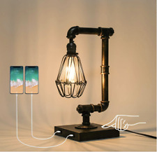 Ganiude Steampunk Lamp, 3-Way Dimmable Touch Control, Industrial Desk Lamp with