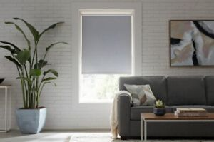CUT TO SIZE StyleWell Cordless Blackout Roller Shades - Taupe