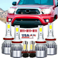6x For Toyota Tacoma 2016-2020 LED Headlight High Low Fog Light Bulbs Combo gw